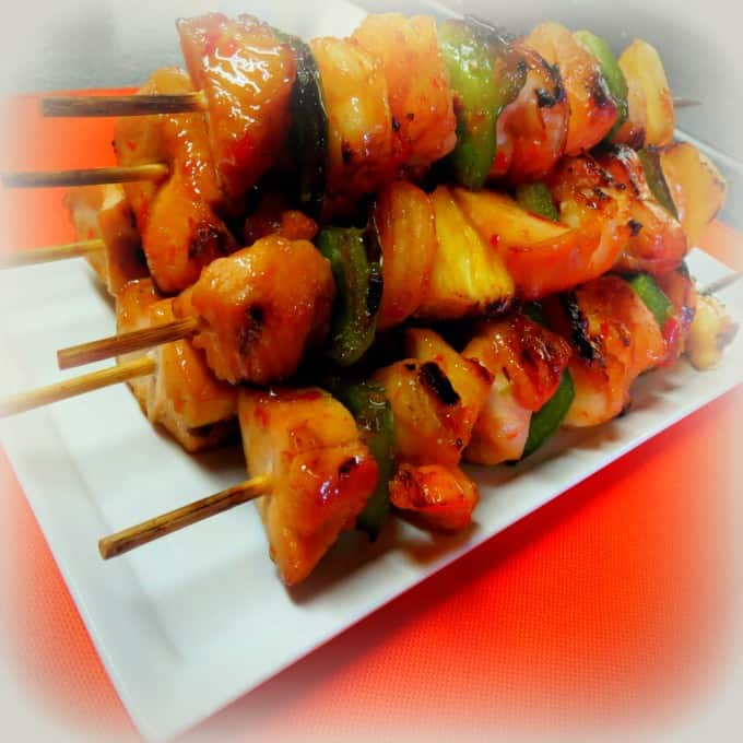 Grilled Chicken and Shrimp Kabobs