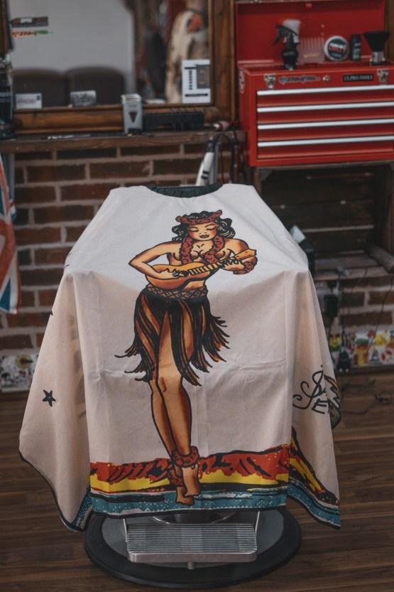 Hula Girl Barber Cape