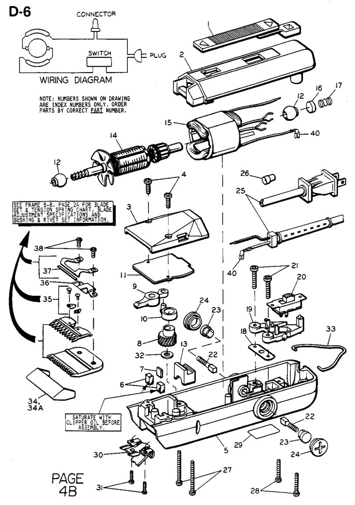 barber shave diagram craftsman riding mower lt2000 wiring oster turbo 111 clipper diagrams - supplies, depot