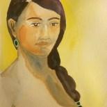 Lorena on yellow