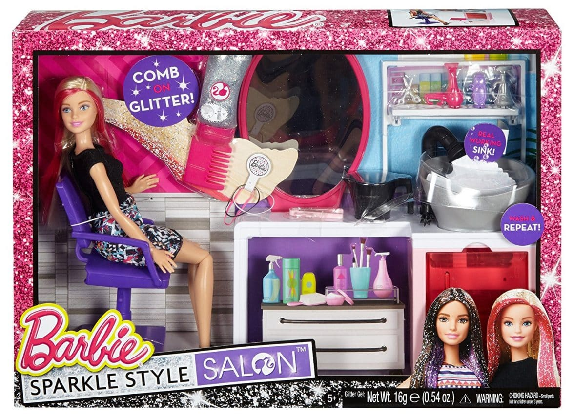 Barbie Sparkle Style Salon  Blonde Doll Playset  Barbie