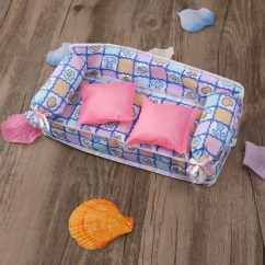 Dollhouse Sofa How To Repair Cat Scratches On Leather Tinksky Lovely Miniature Furniture Flower Print