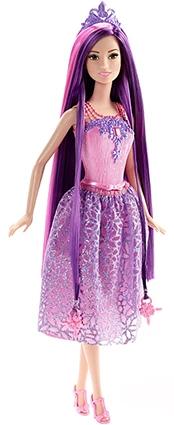 Barbie - Coiffures princesse magiques, lilas