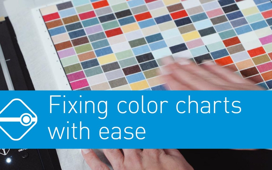 Fixing textile charts with ease