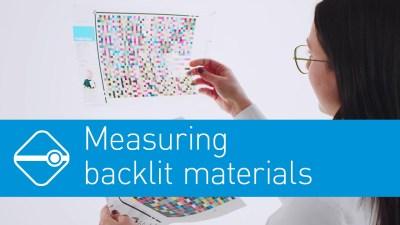 Video: Precise measurement of Backlite Materials