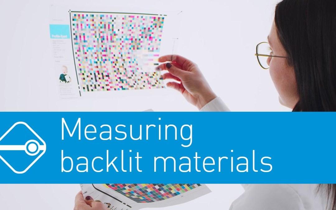 Precise measurement of Backlite Materials