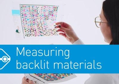 Video: Precise color measurement of Backlite Materials
