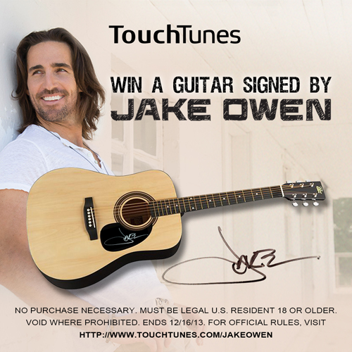 TouchTunes Debuts Jake Owens New Album at Bars Nationwide  Bar Business Magazine