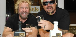 Sammy Hagar and Guy Fieri Santo Fino Blanco Tequila Los Santo Partnership
