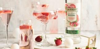 Smirnoff Strawberry Rose Sparkler cocktail recipe