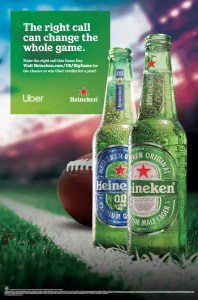 Heineken right call Uber NFL