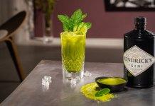 Hendricks Gin Matcha Mojito cocktail recipe