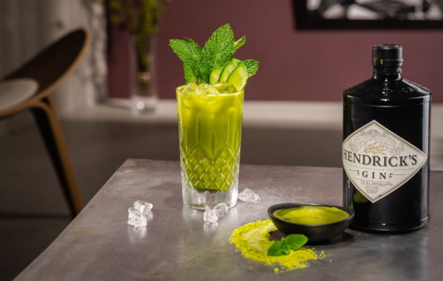 Hendricks Gin Matcha Mojito cocktail recipe