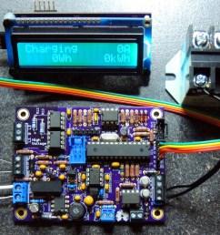diy open evse version 4 23 test setup in charging mode [ 4434 x 2906 Pixel ]