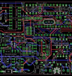 circuit board top diy open evse 4 23 board eagle cad board layout [ 1051 x 805 Pixel ]