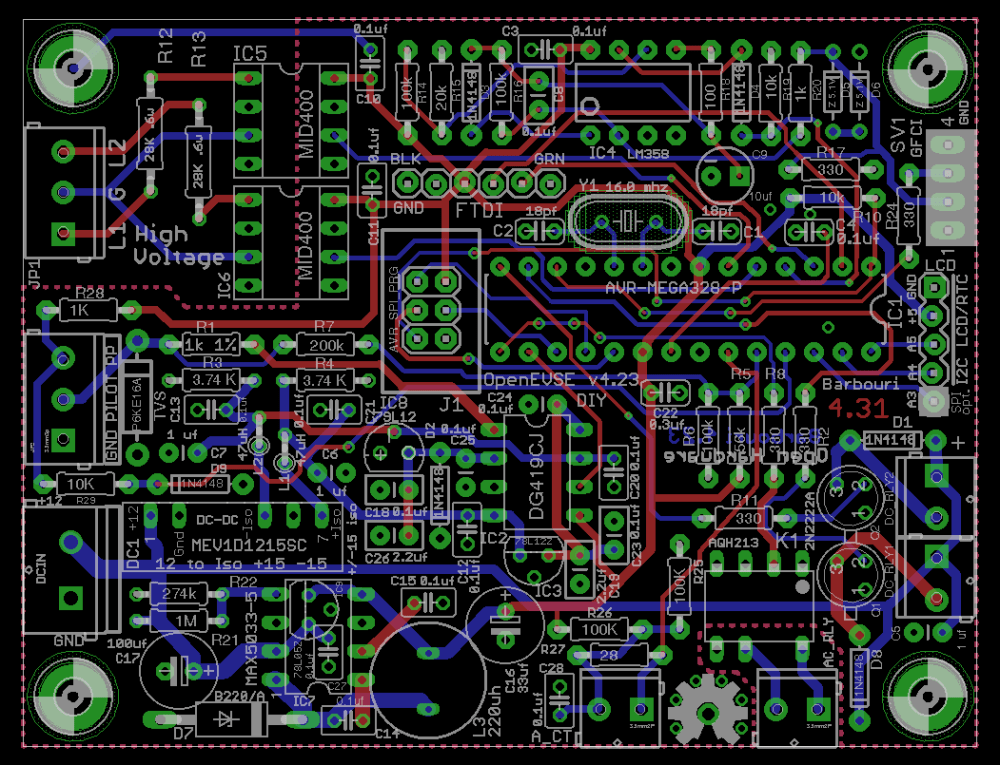 medium resolution of  circuit board top diy open evse 4 23 board eagle cad board layout