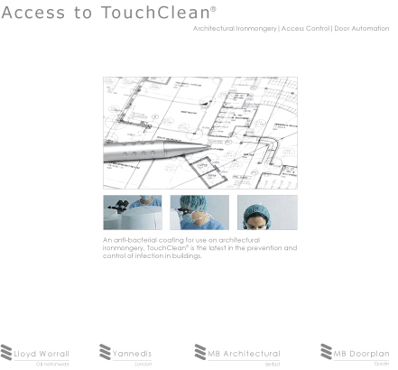 TouchClean® anti-bacterial coating for door ironmongery