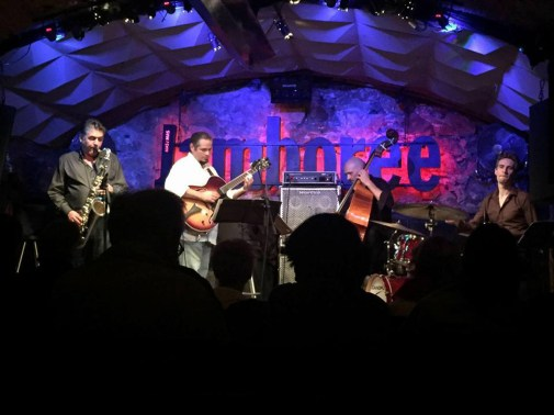 Pedro Barboza Cuarteto en Jamboree Jazz Club, con Gilles Grivolla, Lilian Bencina y Cedrick Bec. Barcelona, España.