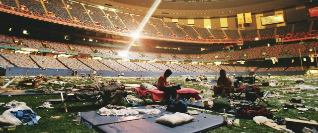 Super Dome becomes a shelter