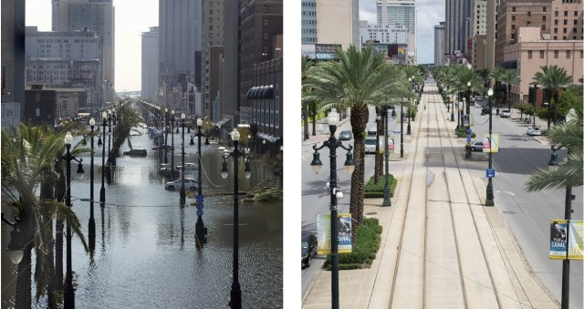Canal Street before and after