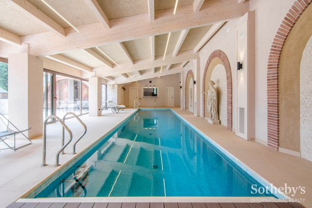 Inside swimming pool in house of Barcelona