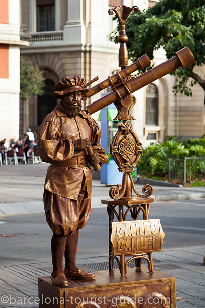 Human Statue:  Galileo