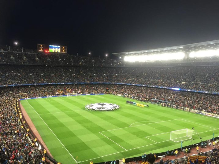 Camp Nou Champions League game