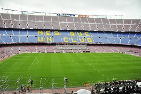 Camp Nou during the day