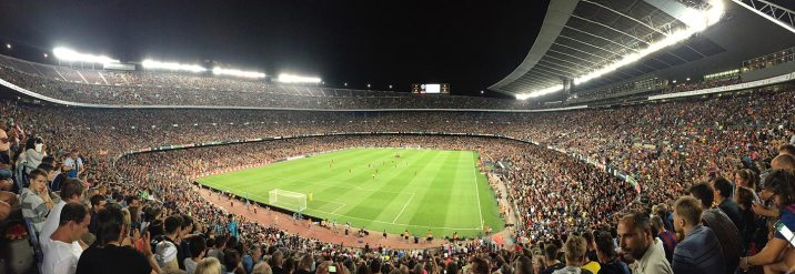 Camp Nou on game day