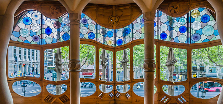 Casa Batllo Stained Glass