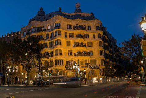 Casa Milà at Night