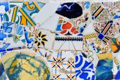Park Guell mosaic, Trencadis