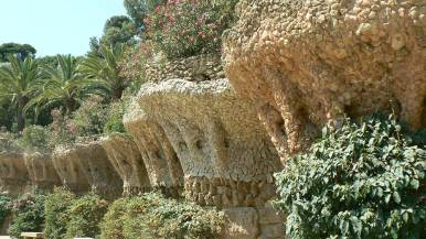 Stone birds' nests Park Guell