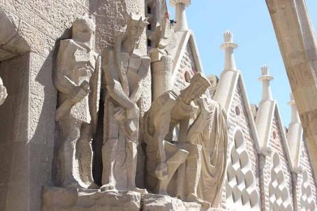 Sagrada Familia sculptures close up