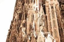 Sculptures on the Sagrada Familia towers