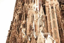 Sculptures on the Sagrada Familia towers