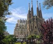 Sagrada Familia from the park