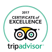 Tripadvisor - Certificate Excellence 2017