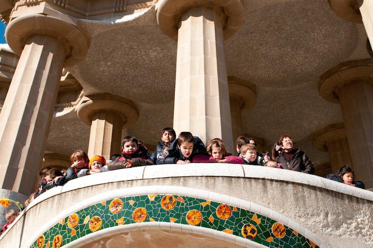 Park Guell met kinderen