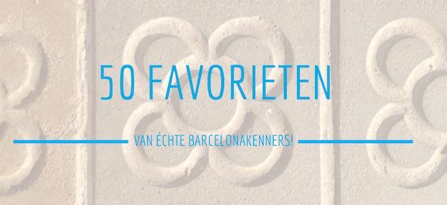50 favorieten plekken in Barcelona