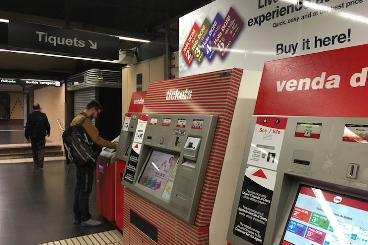 ticket automaat metro placa espanya