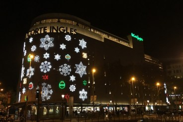 El Corte Inglès in december