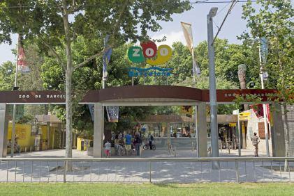 Buitenkant dierentuin Barcelona