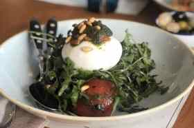 Salade met Burrata restaurant Baracca