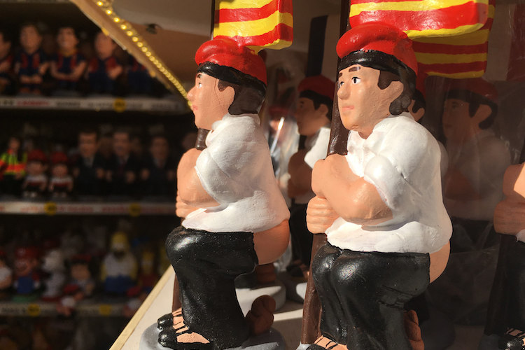 caganer traditie met kerst in Catalonië