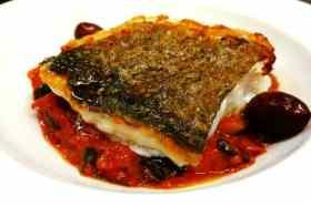 Gerecht met vis restaurant Can ros