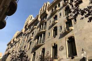 Buitenkant Casa Fuster in Barcelona