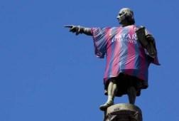 Columbus in Barça-shirt