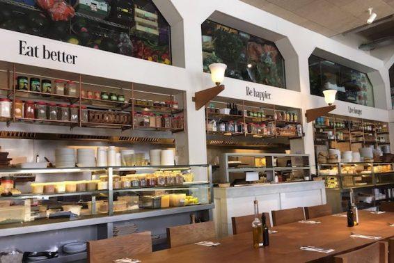 Flax&Kale restaurant binnenkant