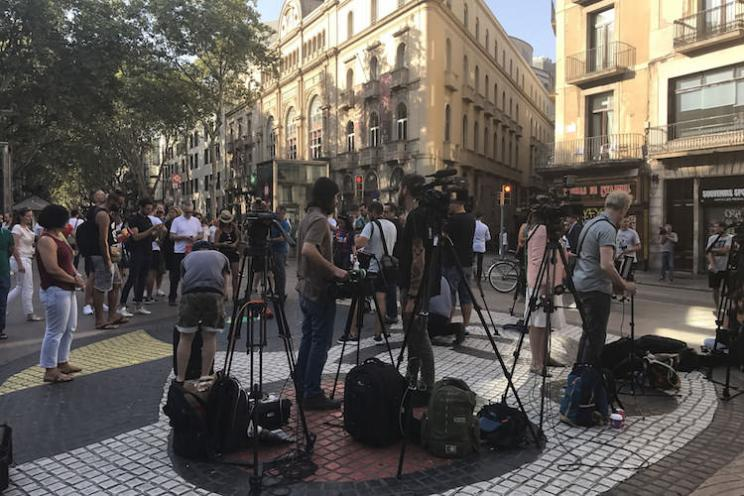 Aanslag in Barcelona media Ramblas